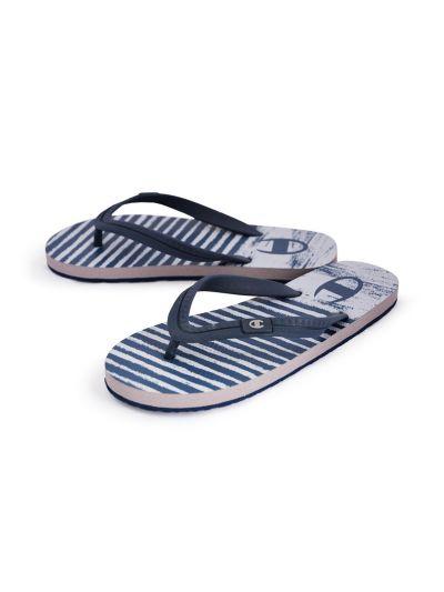 Moški / otroški sandali na prst - japonke Champion® -S20604- sive/navy DOG