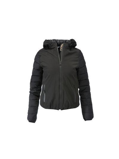 Ženska jakna Champion® C111092 s kapuco črna print