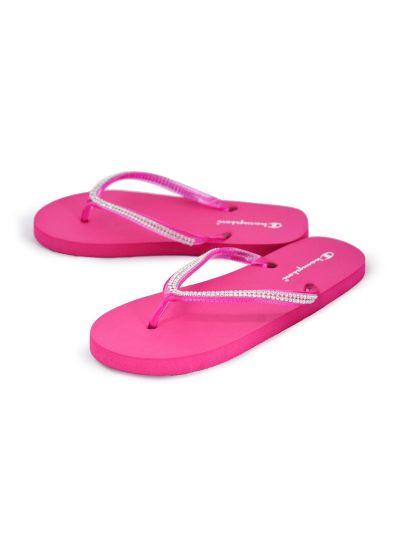 Ženski / dekliški sandali na prst - japonke Champion® S10441 PEARLY roza FUR