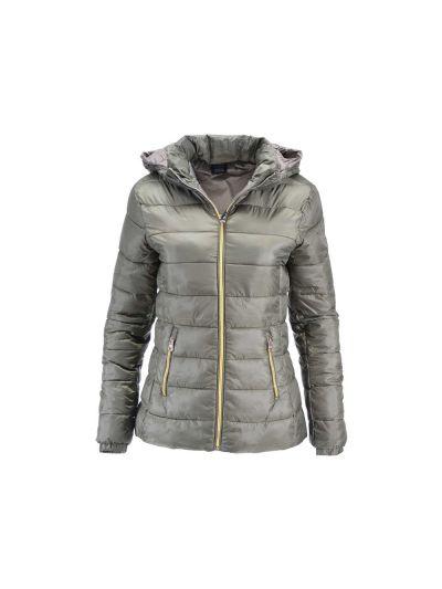 Ženska jakna Champion® C110954 s kapuco - olivna