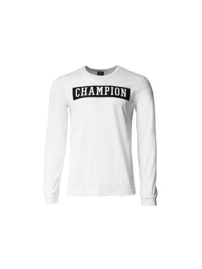 Moška majica Champion® dolg rokav N.Y. bela WHT
