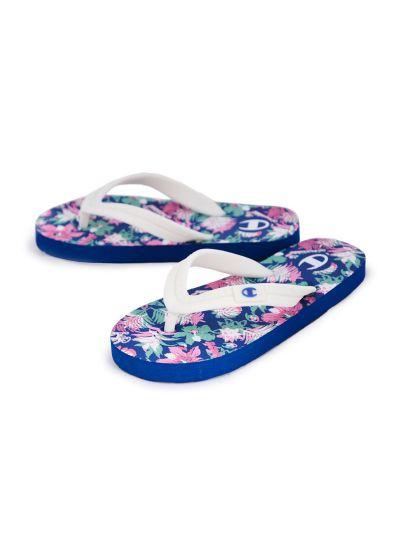 Ženski / dekliški sandali na prst - japonke Champion® S10440 rože RBL FLOWER