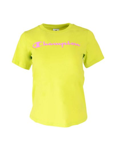 Dekliška majica kratek rokav Champion ® 403927 - fluo zelena