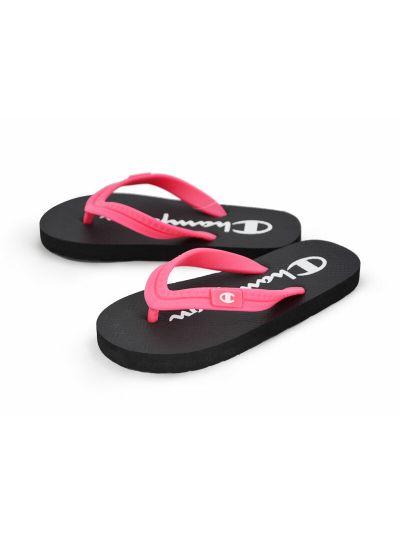 Ženski / dekliški sandali na prst - japonke Champion® S10440 roza/črne NBK