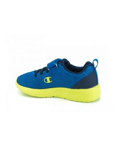 Fantovski športni copati Champion® S31934 DOUX - modri/fluo zeleni