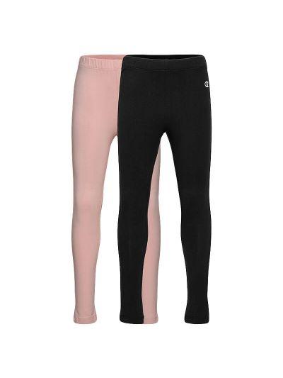 Komplet dekliških pajkic Champion® 404239 - črne / pastelno roza