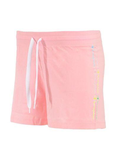 Ženske kratke hlače Champion COLOR & LOGO 114093 - pastelno roza