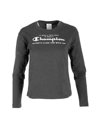 Dekliška majica z dolgimi rokavi Champion 403929 - črna