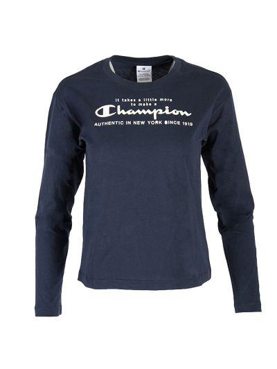 Dekliška majica z dolgimi rokavi Champion 403929 - navy