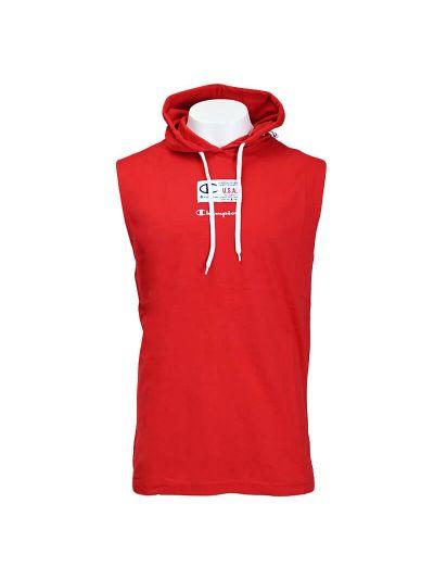 Moška majica brez rokavov s kapuco Champion USA 215925 - rdeča