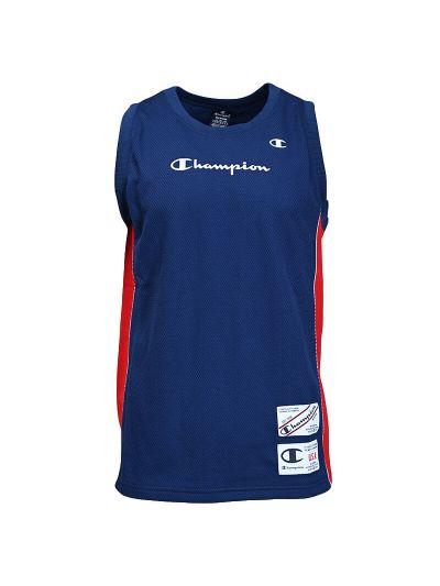 Moška majica brez rokavov Champion 215926 - modra / rdeča