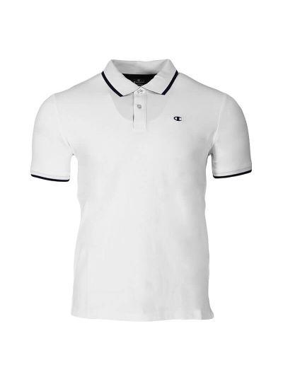 Moška polo majica s kratkimi rokavi Champion® 214398 - bela / navy