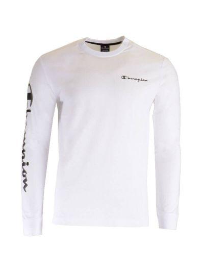 Moška majica Champion® dolg rokav C213470 - bela