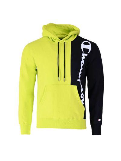 Moški hoodie Champion ® TWO TONE 216463 - neon zelen / črn