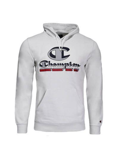 Moški pulover s kapuco Champion ® PLAY 216640 -  bel