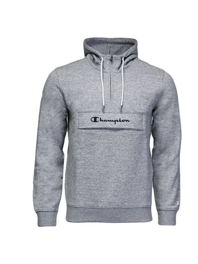 Moški pulover s kapuco in polzadrgo Champion 214746 - siv