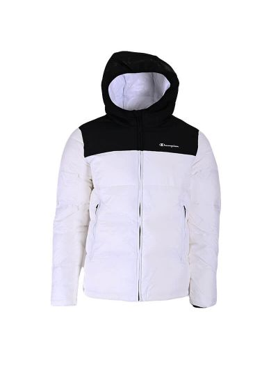 Moška zimska jakna s kapuco Champion ® 216652 - bela / črna