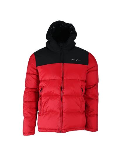 Moška zimska jakna s kapuco Champion ® 216652 - rdeča / črna
