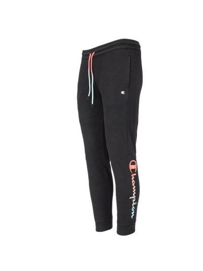 Moške dolge hlače na patent Champion AMERICAN PASTELS 215787 - črne / roza