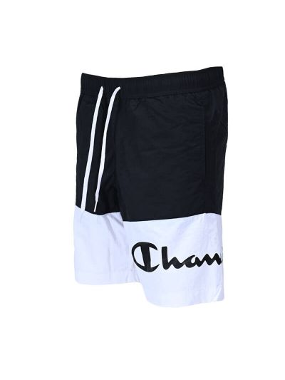 Moške kratke kopalne hlače Champion® 216070 - črne / bele