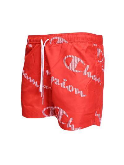 Moške kratke kopalne hlače Champion® PRINT 214445 - rdeče