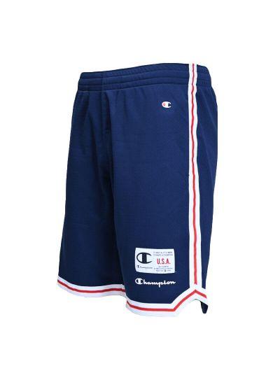 Moške kratke hlače Champion 215927 - navy / bele / rdeče