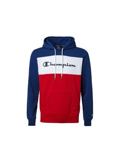 Moški hoodie Champion 216196 moder / rdeč / bel