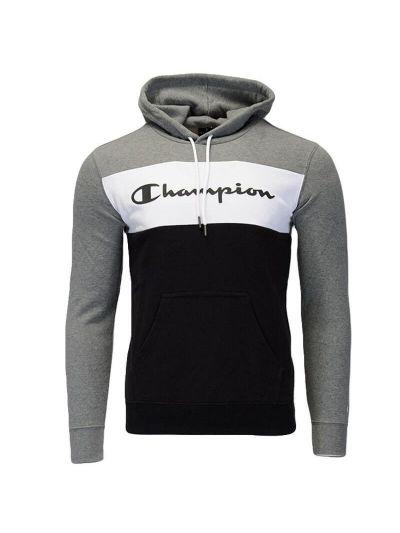 Moški hoodie Champion 216196 siv / črn / bel