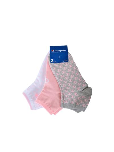 Nogavice kratke Champion® 804831 - sivi / roza / beli