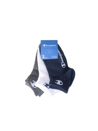 Nogavice kratke Champion® 804576 - sive / bele / navy