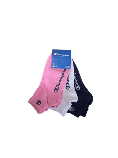 Nogavice kratke Champion® 804559 - roza / bele / modre