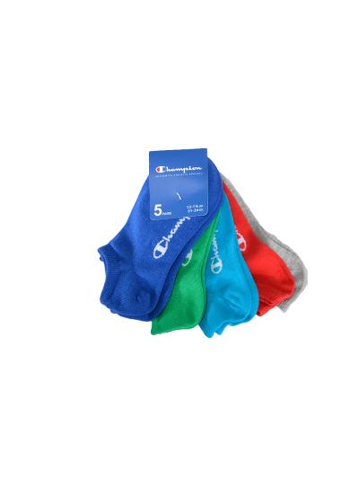 Otroške nogavice kratke Champion 804583 - modre / zelene / svetlo modre / sive / rdeče