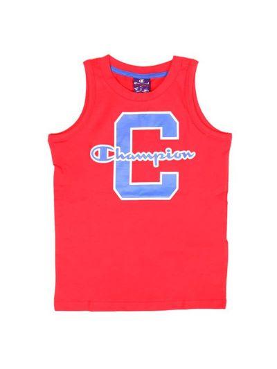 Otroška majica brez rokavov Champion 304411 rdeča RED