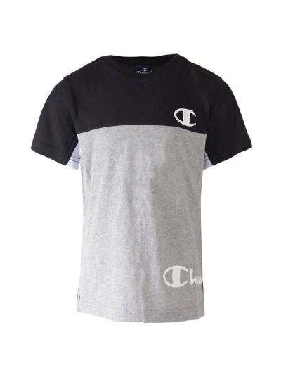 Otroška majica Champion® 305016 kratek rokav Color B - črno/siva