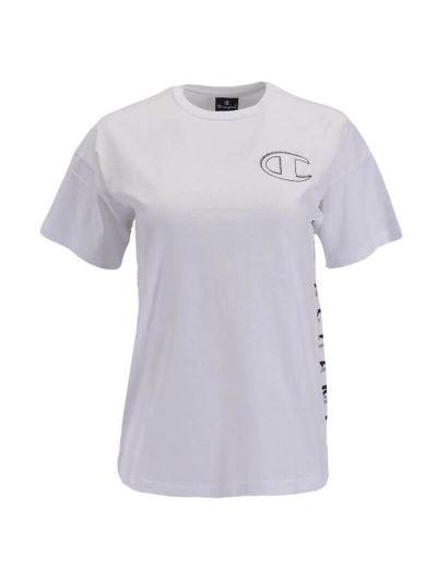 Otroška športna majica Champion® 304917 kratek rokav - bela