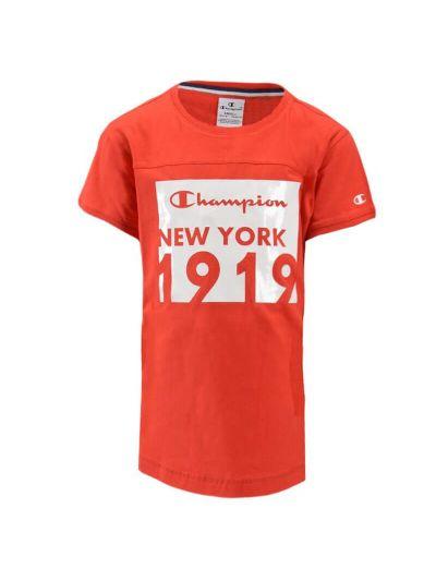Dekliška majica maxi Champion® 403597 kratek rokav - rdeča