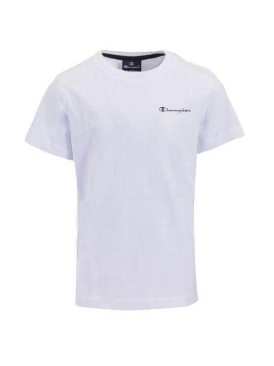 Otroška športna majica Champion® 305071 kratek rokav - bela