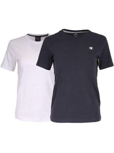 Otroška majica 2x Champion® 304935 kratek rokav - bela/ navy