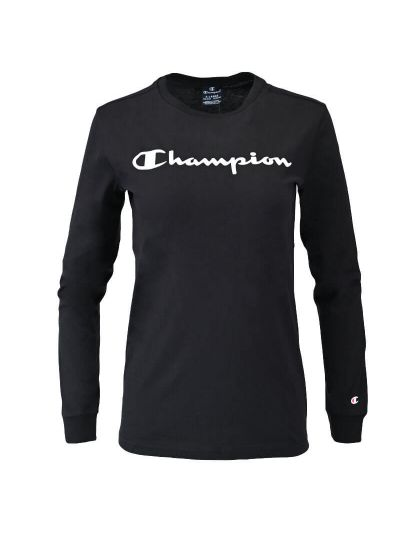 Otroška majica z dolgimi rokavi Champion® 305366 - črna