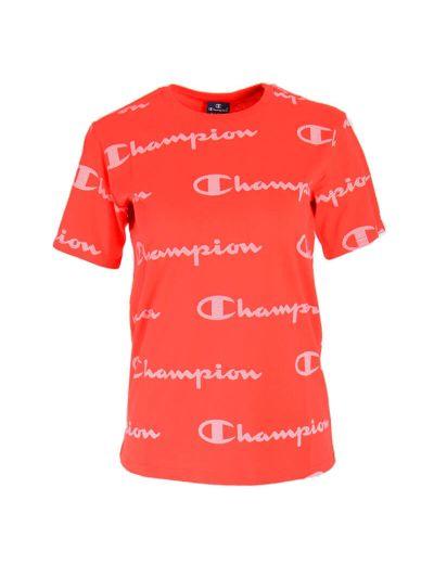 Otroška športna majica s kratkimi rokavi Champion® PRINT 305171 - rdeča