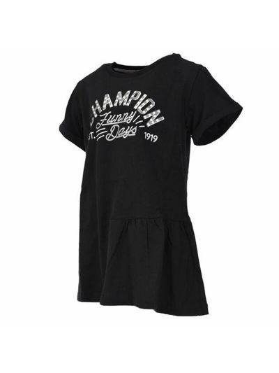 Dekliška majica Champion® 403383 kratek rokav Maxi - črna NBK