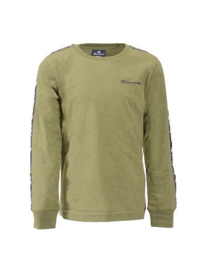 Otroška majica Champion® 305038 dolg rokav - olivna