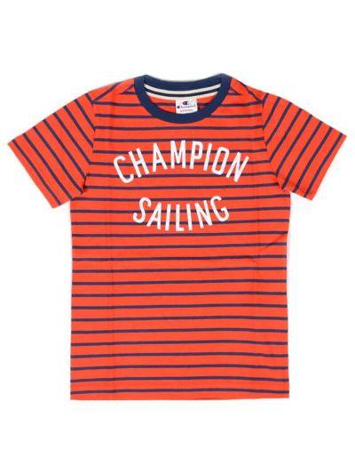 Otroška majica kratek rokav Champion® Sailing 304387 - rdeča / navy