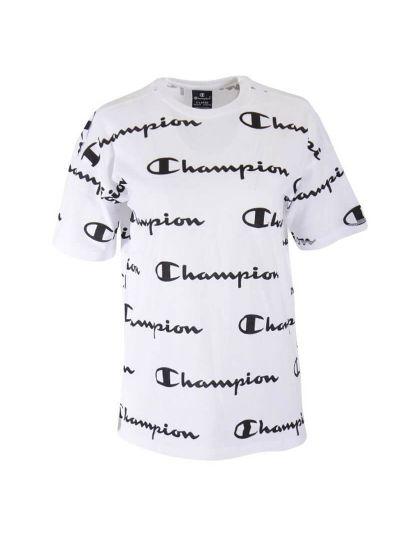 Otroška Oversize majica s kratkimi rokavi Champion PRINT 305183 - bela