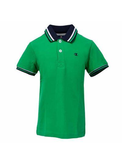 Otroška polo majica Champion® 304608 kratek rokav zelena ELG