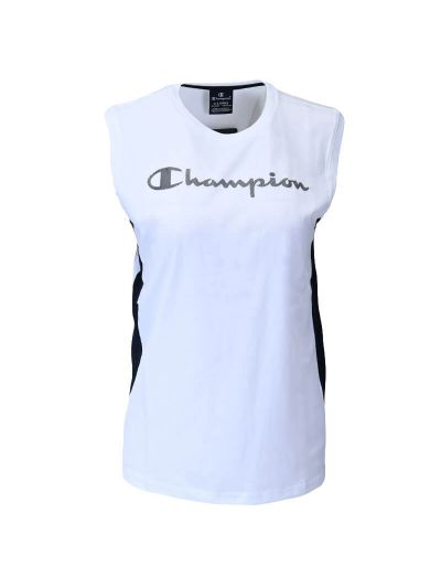 Otroška športna majica brez rokavov Champion® 305172 - bela