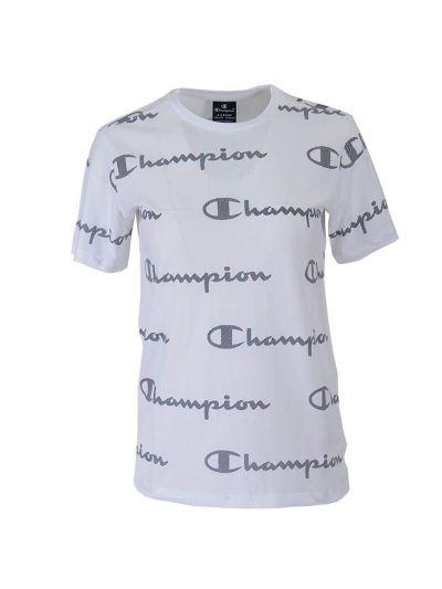 Otroška majica s kratkimi rokavi Champion PRINT 305171 - bela
