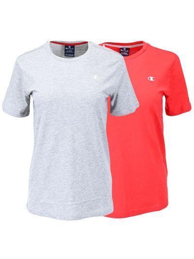Komplet otroških majic Champion ® 304935 - siva / rdeča