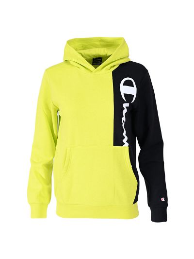 Fantovski pulover s kapuco Champion ® TWO TONE 305759 - neon zelen / črn
