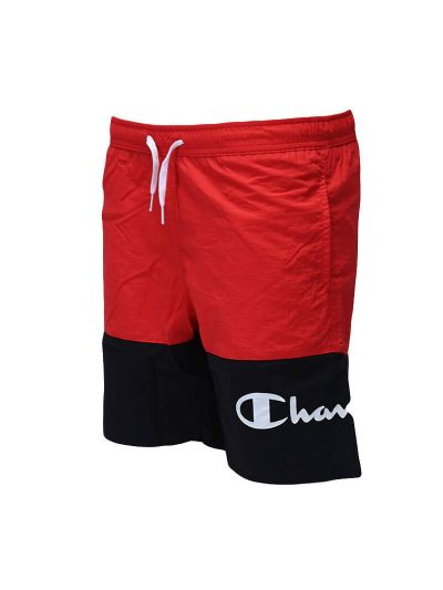 Otroške kratke kopalne hlače Champion 305684 - rdeče / črne